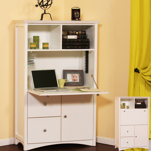 Genial Hide Your Laptop W/ A Birch Computer Armoire From Gothic Cabinet Craft