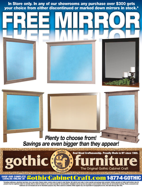 Gothic cabinet craft promotions coupons for Gothic cabinet craft new york ny