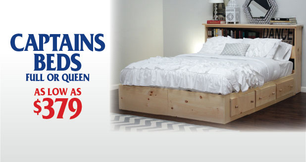 Queen Storage Bed with 8 Drawers and 4 Doors